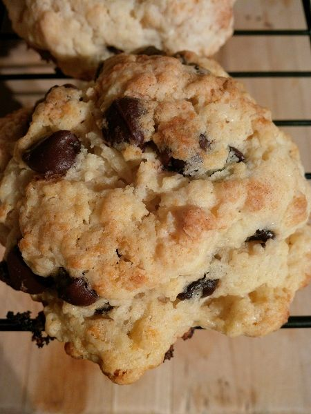 Chocolate Chip Scones Recipe- Egg and Nut Free