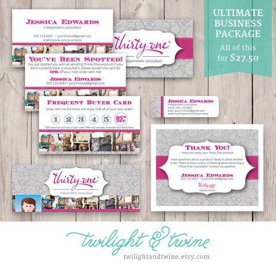 Thirty One Ultimate Business Bundle ( 31, Card, Label, Facebook Cover, Thank You, Tag ) - Thirty One, Vista Print, PDF, Printable, Template
