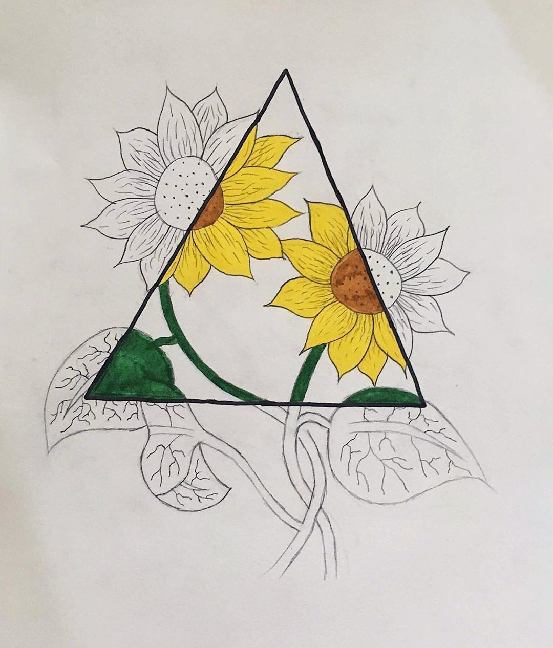 Photo of you're the sunflower 🌻 #art #artist #drawing #tumblr #tumblrgirl