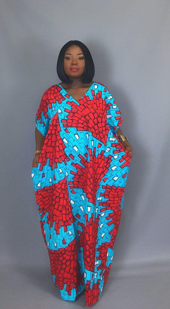 e9f6dd8baa450 African print caftan dressAfrican print clothingmaxi | My Style ...