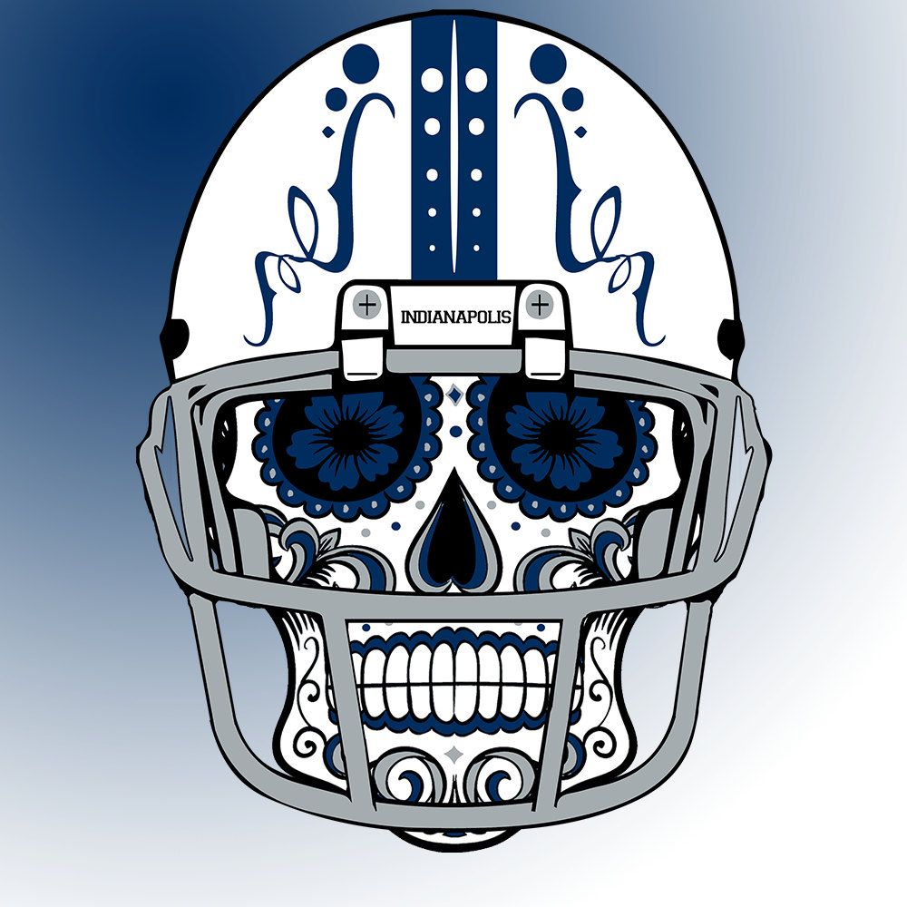 Indianapolis #Colts Custom #NFL Sugar Skull (calavera) Tees and ...