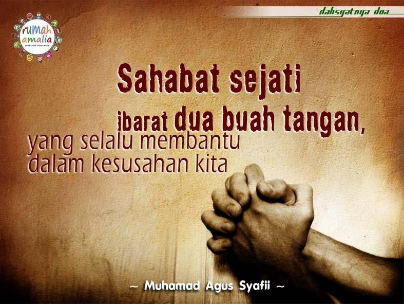 Sahabat Sejati Ibarat Dua Buah Tangan Yang Selalu Membantu Dalam