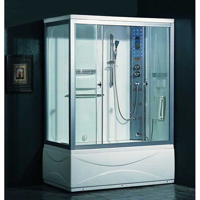 Attractive Turn Your Shower Into An Experience With The Ariel Steam Shower With  Whirlpool Tub. This Shower Features An Overhead Rainfall Shower And  Removable ...