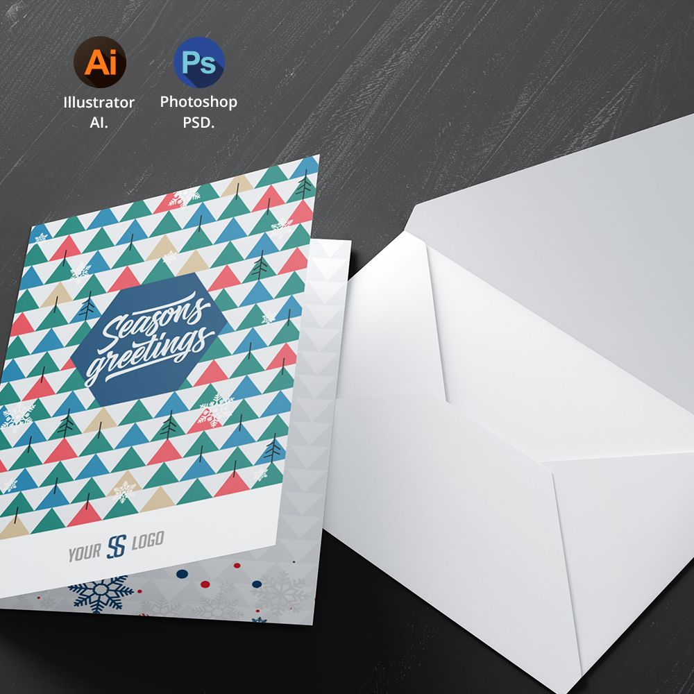 Season S Greetings Card Template Holiday Season Cards Seasons Greetings Card Greeting Card Template