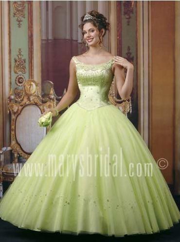 Elegant ball gown scoop neck floor-length light green quinceanera dress - Top Seller Quinceanera Dresses