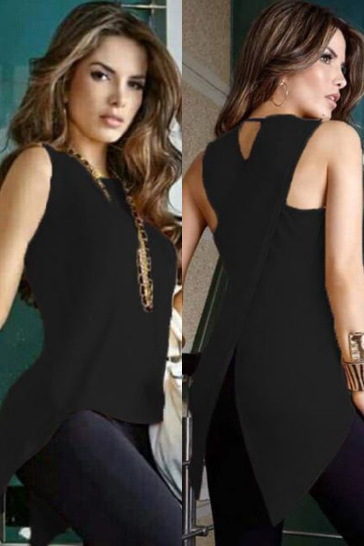 This top available in a variety of colors can be worn with different styled bottoms Versatile and stylish this black top is made to last