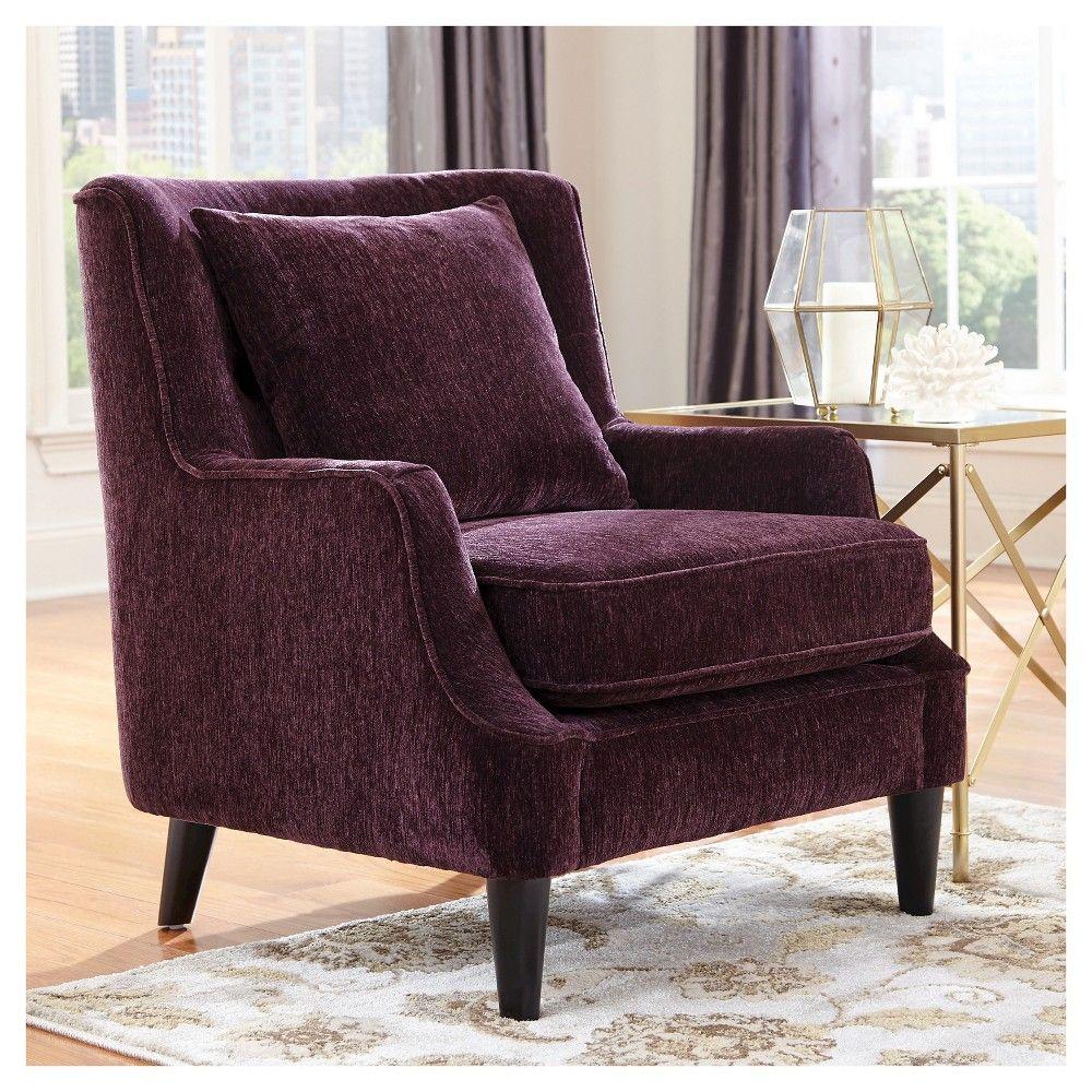 Purple velvet chair - Velvet Accent Chair Purple Donny Osmond Home
