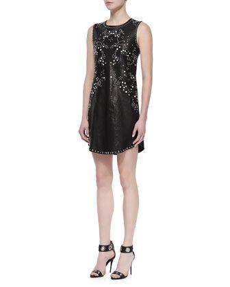 Indiana Studded Leather Dress By Diane Von Furstenberg At Neiman Marcus