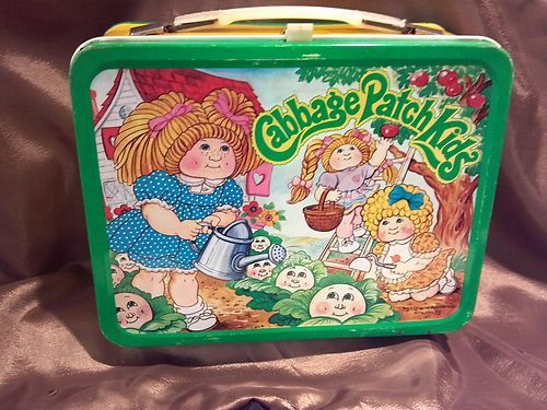 1983 Vintage Cabbage Patch Kids Metal Lunch Box Ebay Vintage Lunch Boxes Cabbage Patch Kids Metal Lunch Box