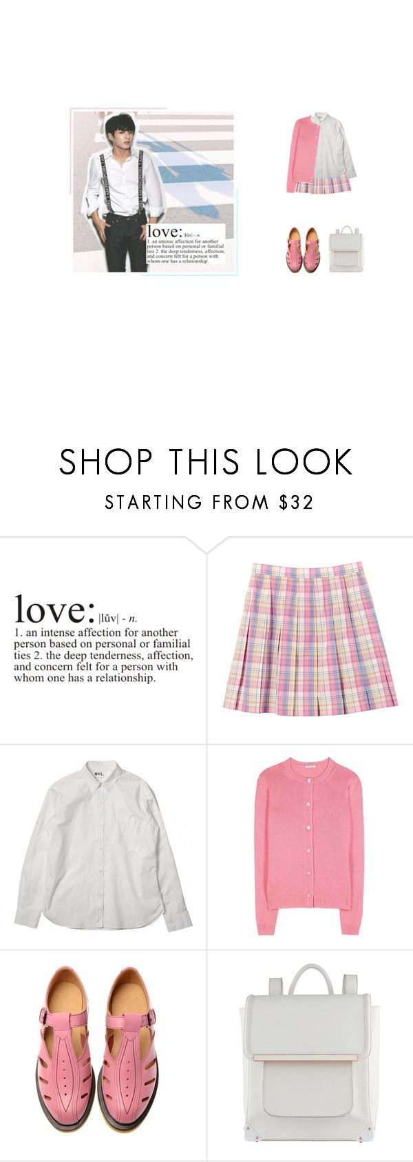 """""""- roses are red ; drabble"""" by softsounds ❤ liked on Polyvore featuring WALL, Miu Miu, Dr. Martens and ALDO"""