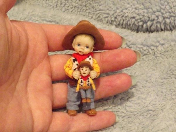 Details about Miniature handmade MINI BABY GIRL TODDLER ooak DOLLHOUSE JOINTED SCULPTED DOLL #miniaturetoys