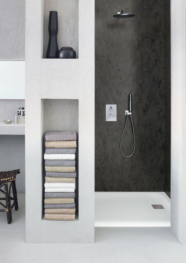 Badezimmer design dusche duschwanne dusche rechteckig corian badewanne badezimmer bathroom