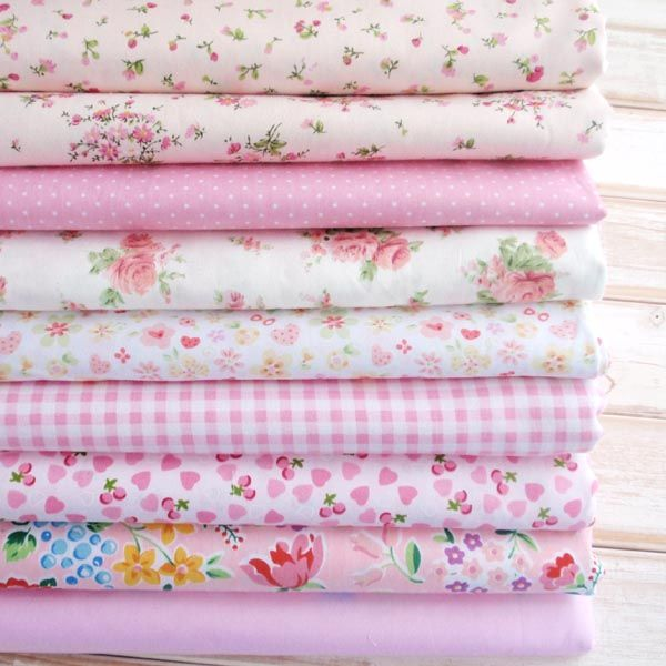 DIY handmade fabric home cloth / curtain / tablecloth / cotton cloth Shuiyu / rose / pink plaid fabric group - Taobao