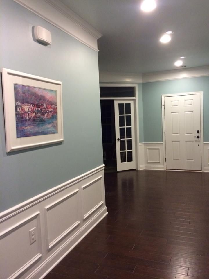 Family Room Colors sherwin williams rain this is the same color of walls, flooring