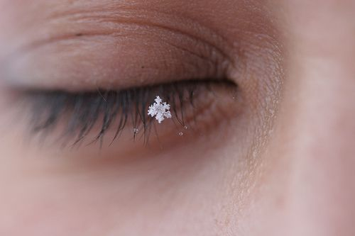 snowflakes that stay on my nose and eyelashes ... | Copos ...