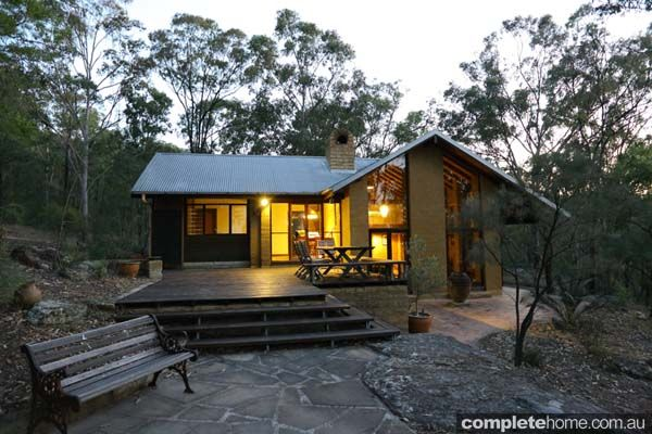 eco home design. Architecture interiors Set into a Hunter Valley hillside  this unique mud brick abode is an