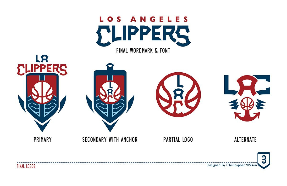 d1f3fa93 Los Angeles Clippers Redesign on Behance | NBA Logos | Los angeles ...