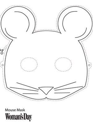 Mouse Mask Mouse mask, Masking and Mice - blank face template printable