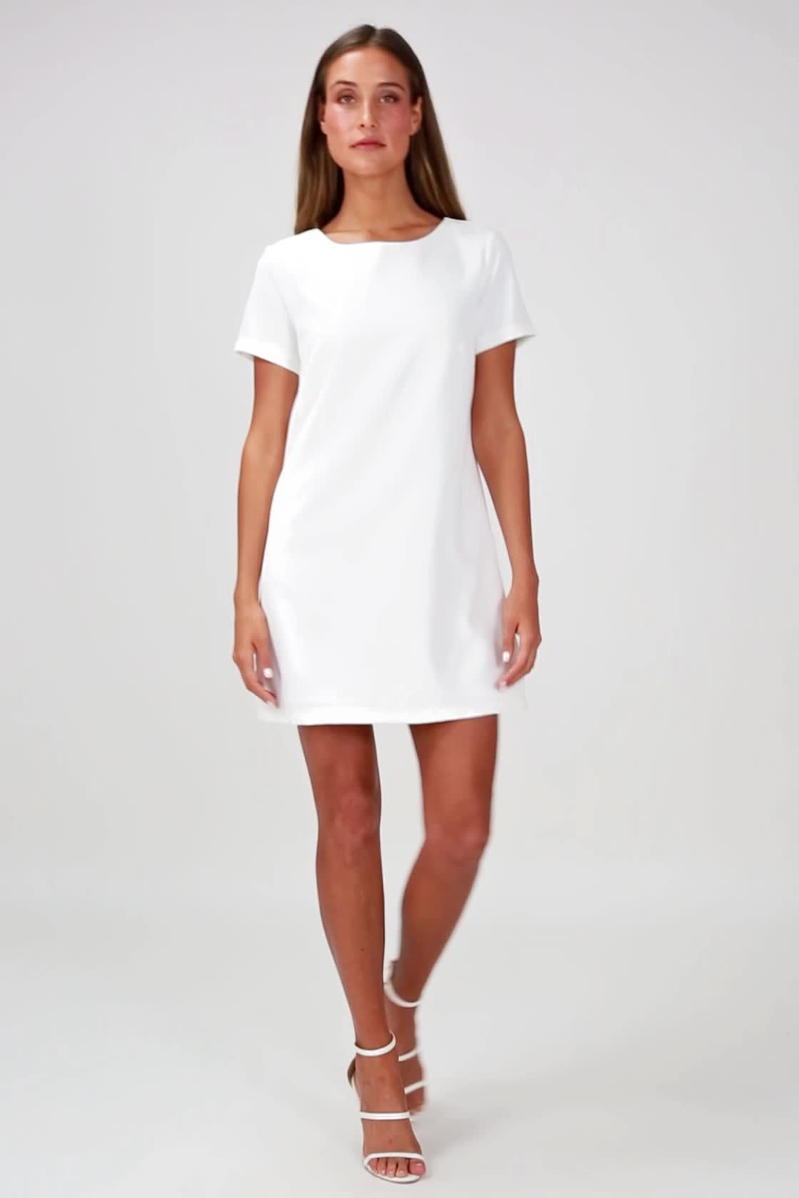 c11a3a40a0e7 Shift and Shout Ivory Shift Dress in 2019 | white dress | White ...