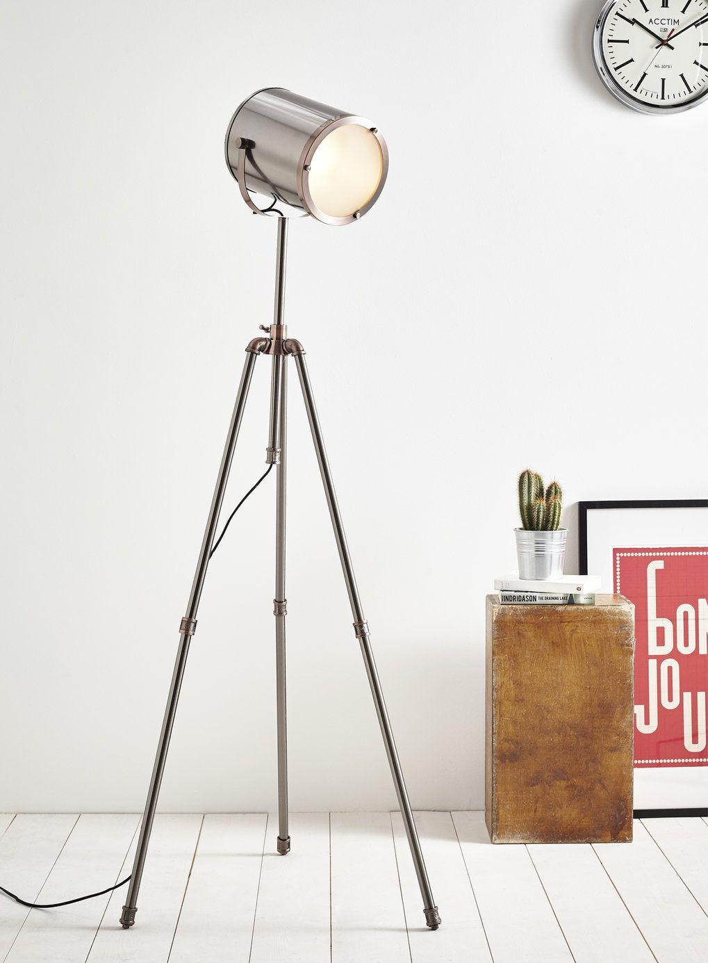 Isaac camera tripod floor lamp - floor lamps- BHS | Moodboard for ...