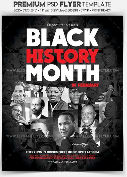 Black History Month V1 2018 Flyer Psd Template Facebook Cover Free