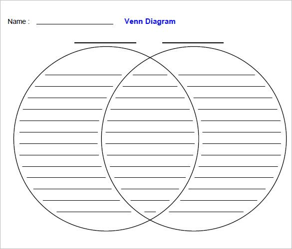 Venn Diagram Worksheet Templates   Free Word Pdf Format