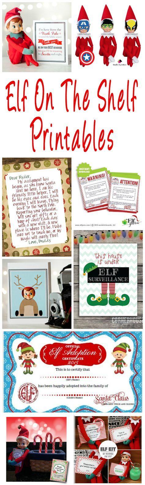 40 Fun & Creative Christmas Elf On The Shelf Printables