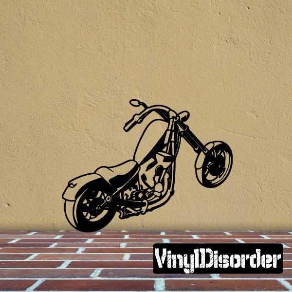 Motorcycle Wall Decal - Vinyl Decal - Car Decal - Large 081