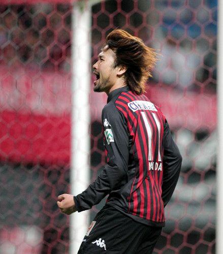 後半10分、ゴールを決め雄たけびを上げる前田(Shunsuke Maeda)Consadole Sapporo Jleague