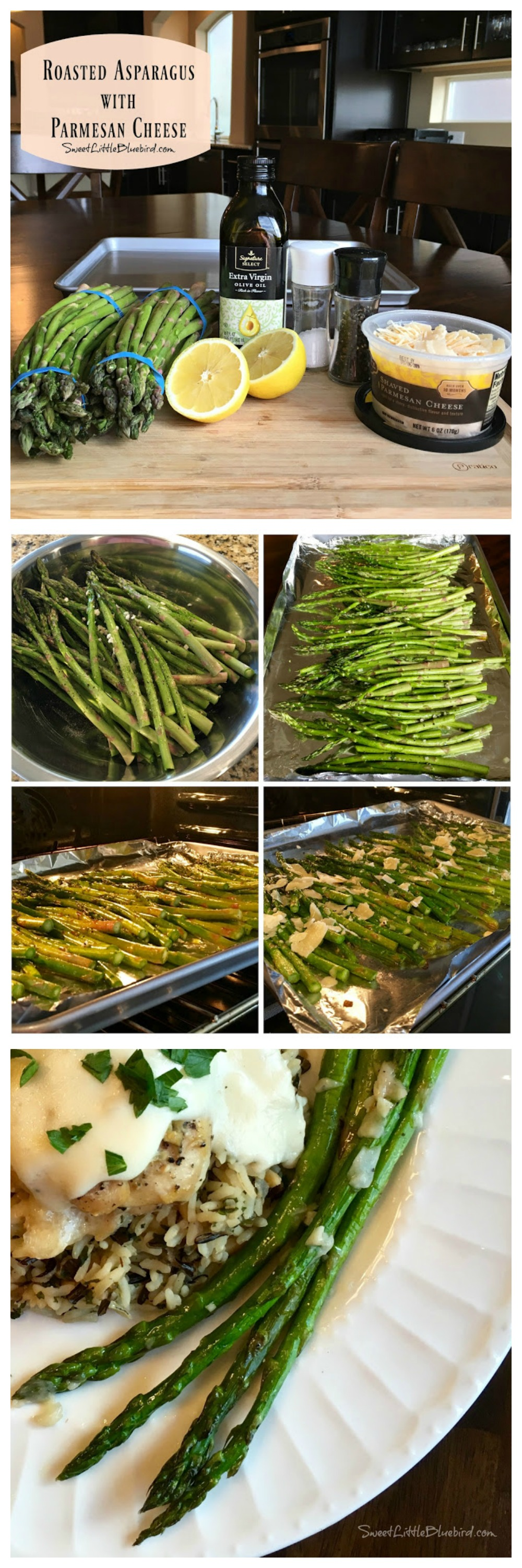 ROASTED ASPARAGUS with PARMESAN CHEESE - Sure to become a new favorite side dish for so many meals and is perfect for holidays. So simple to make and absolutely delicious!!