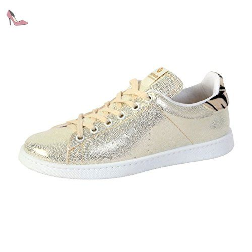 Deportivo Piel, Baskets Mixte Adulte, Or (Oro), 36 EUVictoria