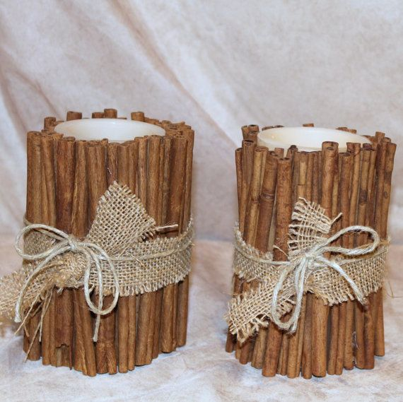 Cinnamon Stick Candle Electronic Flickering by cr8crafts on Etsy
