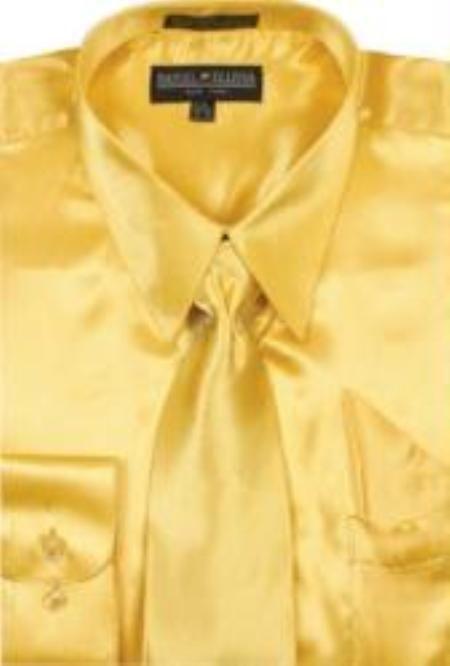 1e5d170ffe6ea ID BF770 Gold Shiny Silky Satin Dress Cheap Fashion Clearance Shirt ...