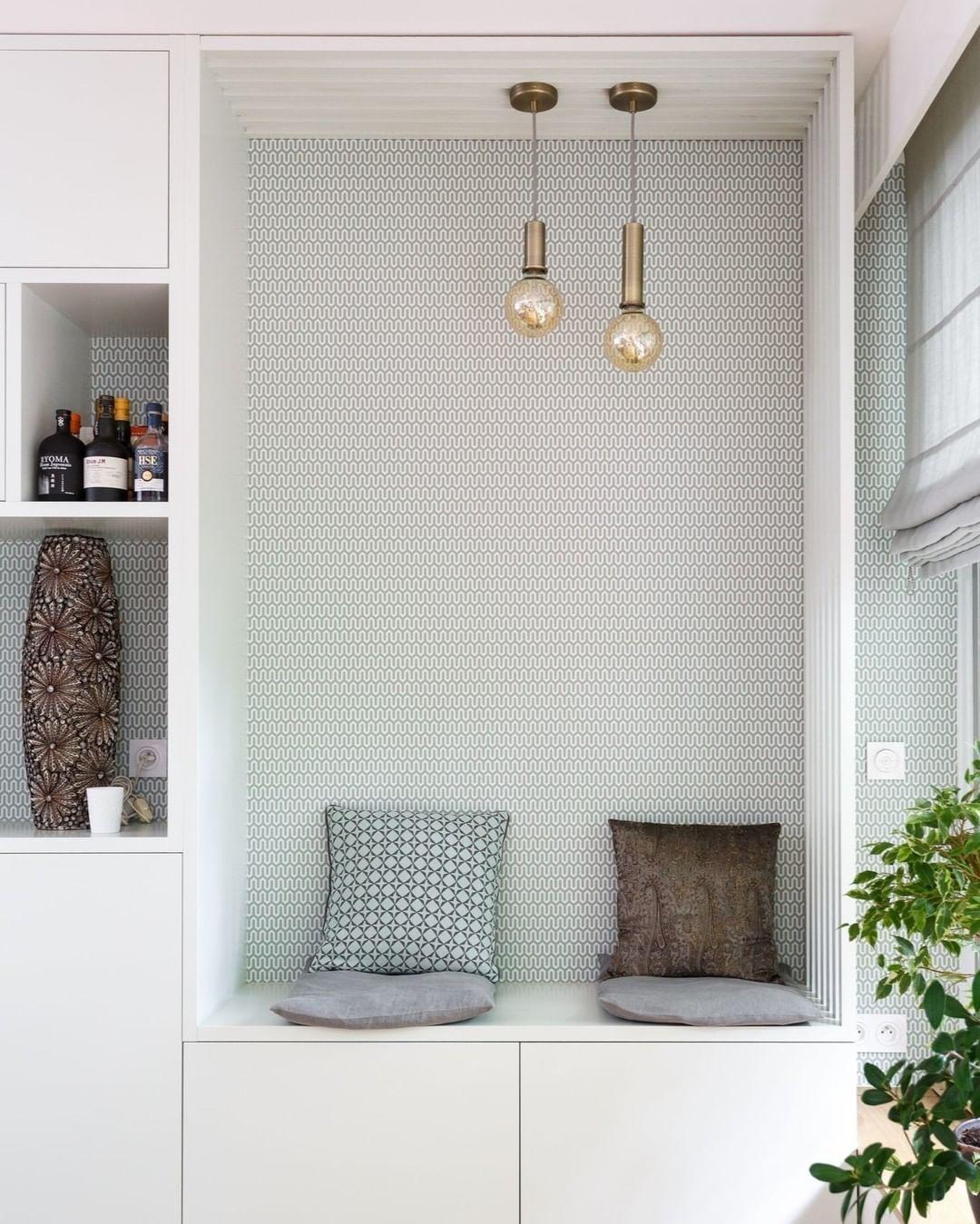 Au Fil Des Couleurs On Instagram Le Papier Peint Geometrique Ypsilon De Borastaper Est Une Jolie Proposition Graphi Rangement Maison Mobilier De Salon Maison
