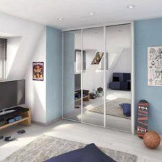 Porte De Placard Coulissante Miroir Argent Spaceo L 67 X H 250 Cm