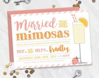 Rise and Shine Wedding Brunch Invitation Digital file