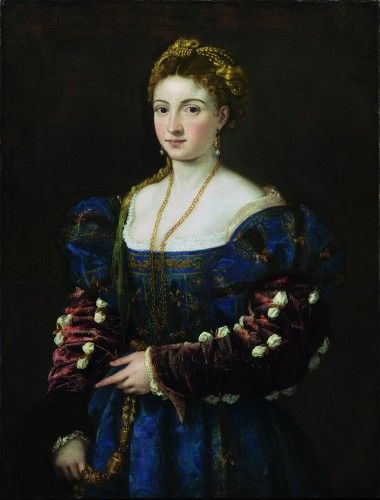 Titian, La Bella, recently restored and on display with an extensive catalog in the Palazzo Pitti. I spent hours in front of her, and gave a small lecture for the class but god is it beautiful after the restoration!!!