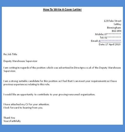How To Make A Cover Letter For Employment  Cover Letter