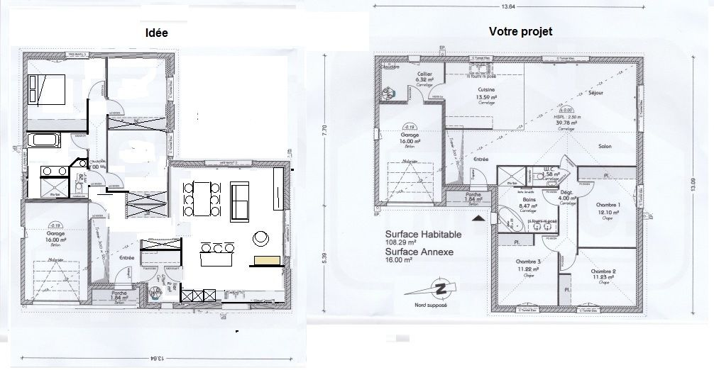 Plan de notre maison en L de PP 110m2 (27 messages) - Page 2