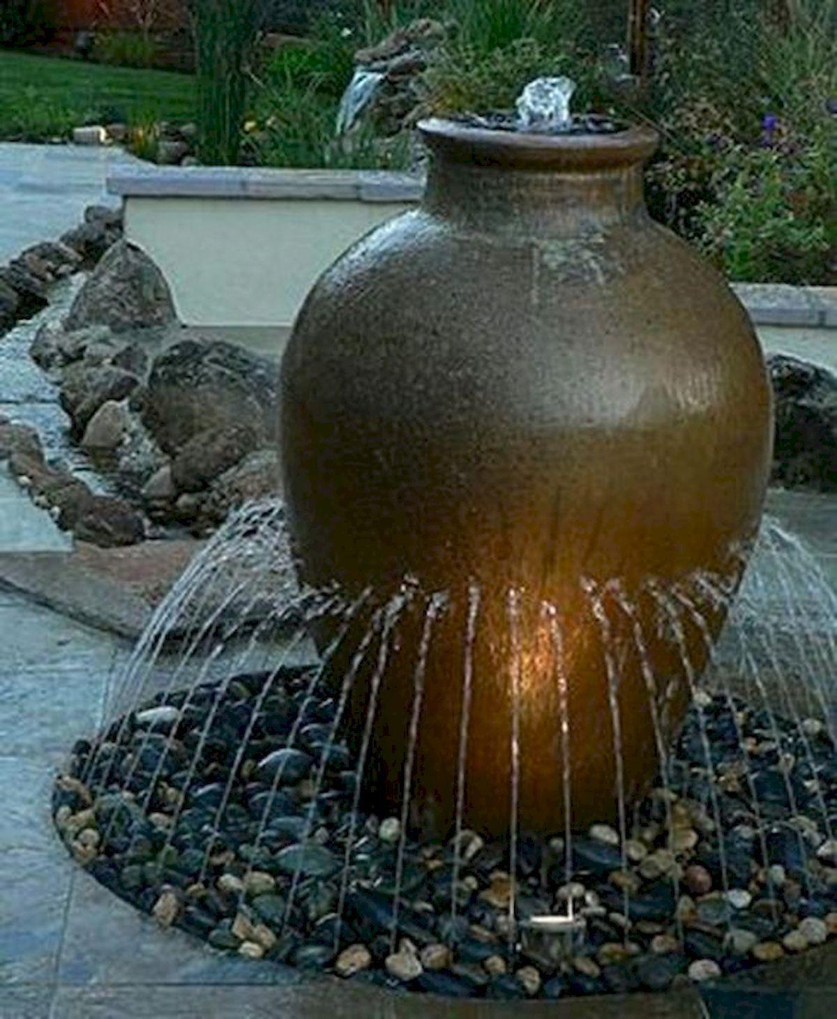 Small Fountain Outdoor: 30 Fantastic Garden Waterfall For Small Garden Ideas