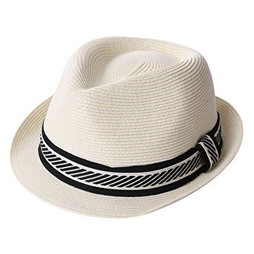 0aecc97420d Chic Packable Straw Fedora Panama Sun Summer Beach Hat Cuban Trilby Men  Women 55-61cm.   18.58 - 19.99  topbrandsclothing from top store