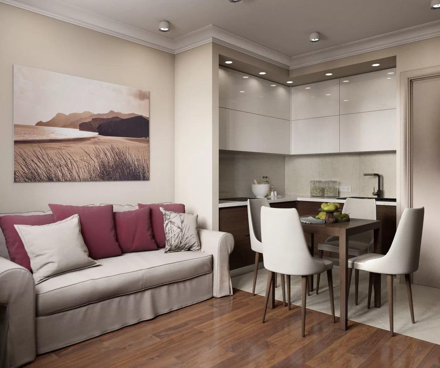 кухня-гостиная 14 кв.м с диваном реальные фото: 14 тыс ...