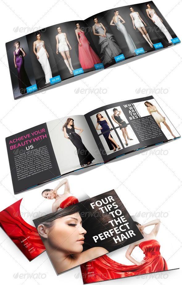 fashion brochure templates - a5 fashion catalog brochure booklet layout design