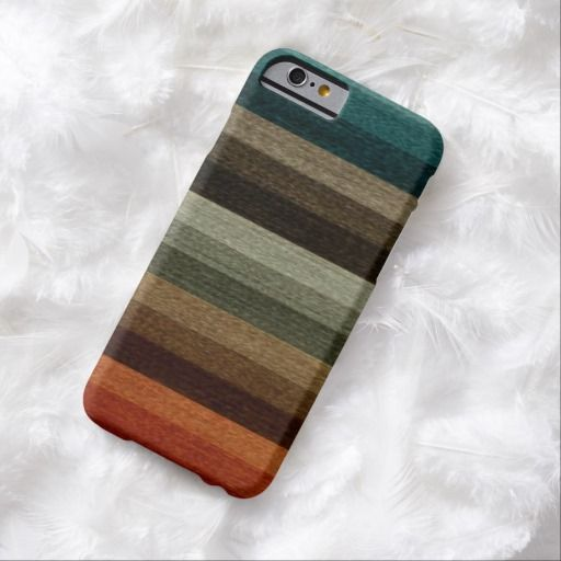 Awesome iPhone 6 Case! Vintage Warm Autumn Striped Pattern, Earth Tones iPhone 6 Case. It's a completely customizable gift for you or your friends.