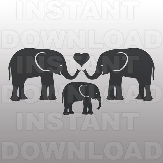 Elephant Family Svg Baby Nursery Svg File Cutting Template