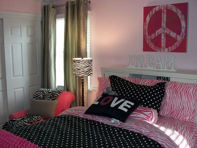 Peace Love Pink Black Teen Bedroom Ideas Part 89