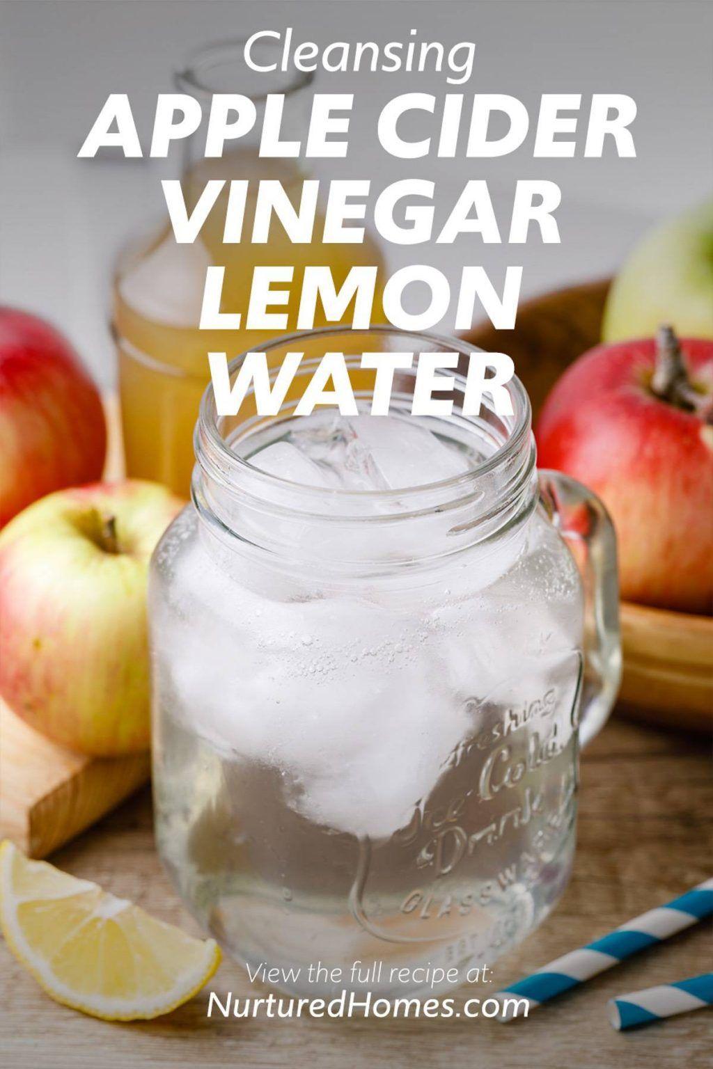Apple Cider Vinegar Lemon Water - Nurtured Homes
