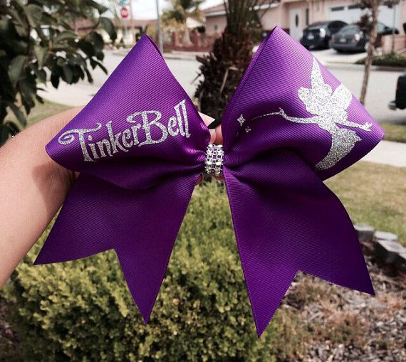 Cheer bow + Tinkerbell = Perfection