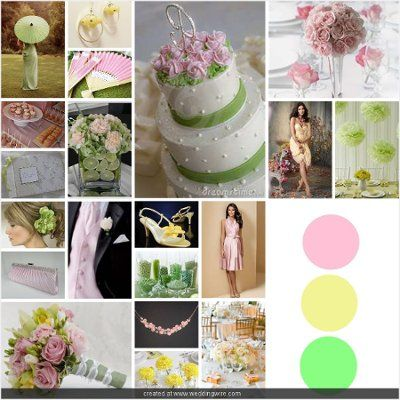 pink yellow green wedding | Light Pink, Lemon, and Mint Wedding ...