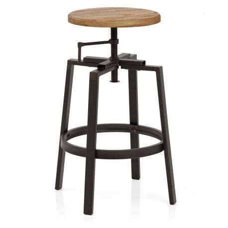 Barhocker industrial Turner hell - Barhockerwelt Küche - bar für küche